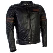 Richa Curtiss Leather Jacket Petrol/Brown